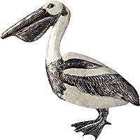 Capiz Shell Pelican Wall Art - White Elegance