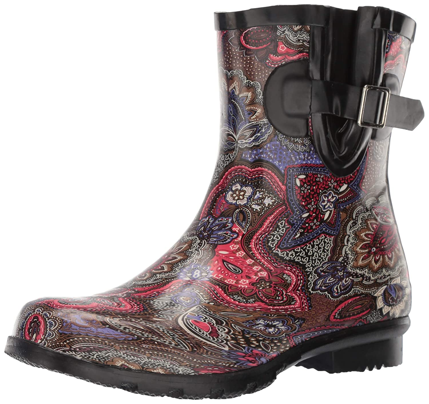 Berry Paisley Nomad Women's Droplet Rain Boot