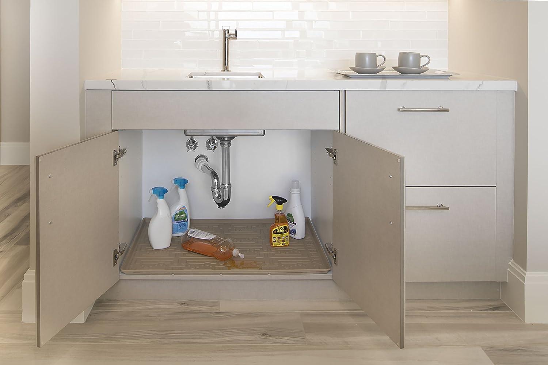 Xtreme Mats Under Sink Bathroom Cabinet Mat, 21 5/8 x 18 7/8, Beige KM06