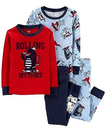 829f0da2a812 Amazon.com  Carter s Toddler Boys 4 Pc Pajama PJs Sleep Play Sleep ...