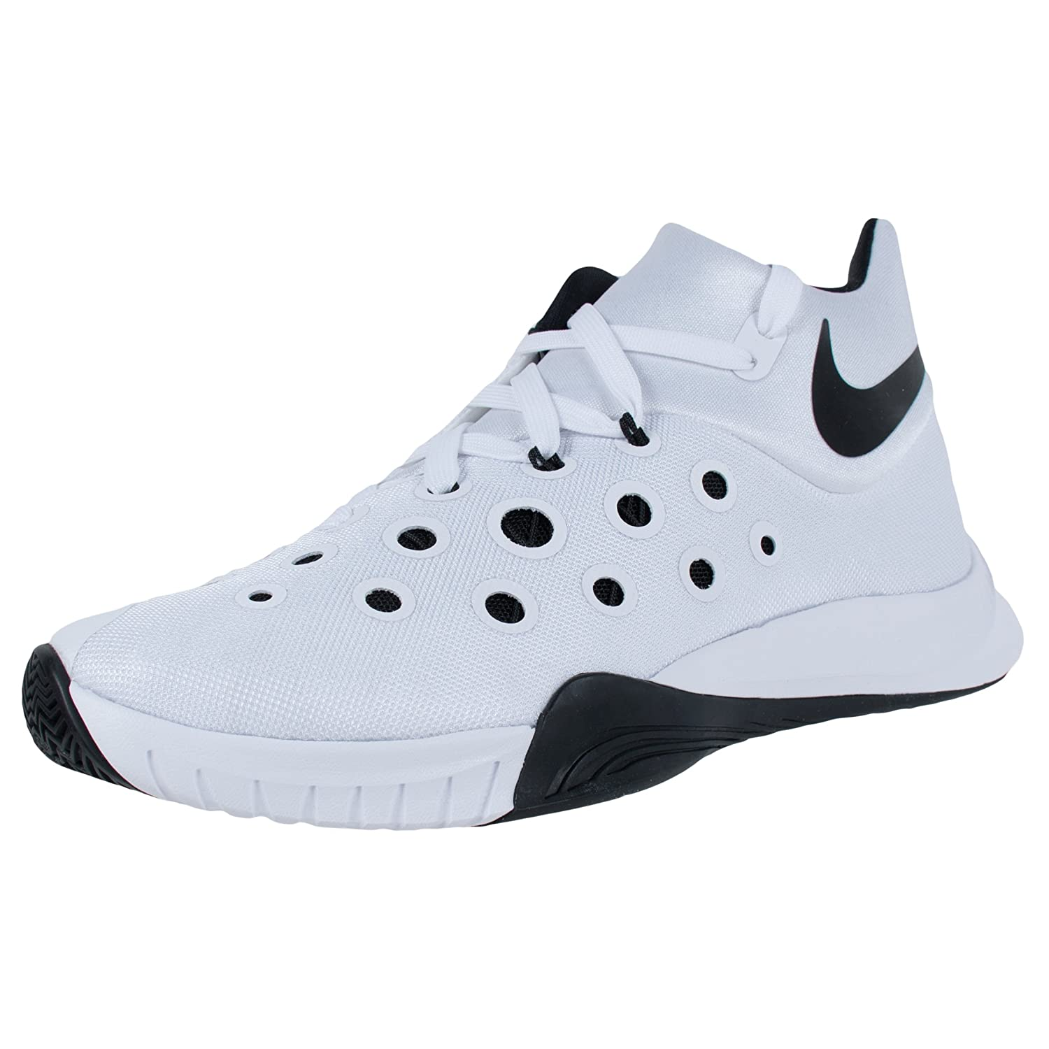 Nike Herren Zoom Hyperquickness 2015 Basketballschuhe  46 EU|White/Black