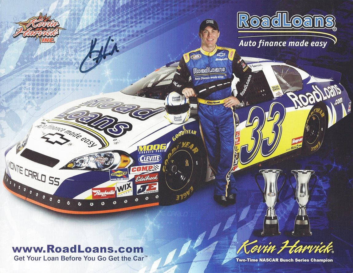 AUTOGRAPHED 2008 Kevin Harvick #33 Road Loans Racing 2X NASCAR ...