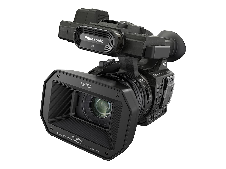 Panasonic HC-X1000 - Videocámara Profesional de 20x, O.I.S de 5 Ejes, F1.8 - F3.6, Zoom 29.5 mm - 600 mm, 4K, 60p, XLR, Filtro ND, SD Dual, 3 Anillos Control Manual, Color Negro