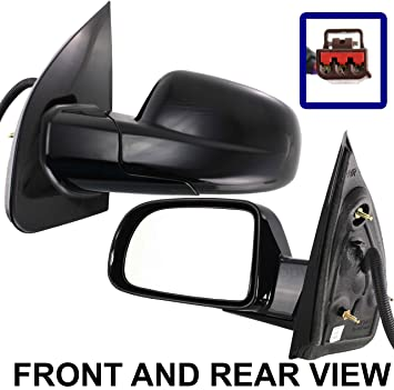 FORD FREESTAR 04 07 SIDE MIRROR LEFT DRIVER POWER SMOOTH FINISH FOLDING