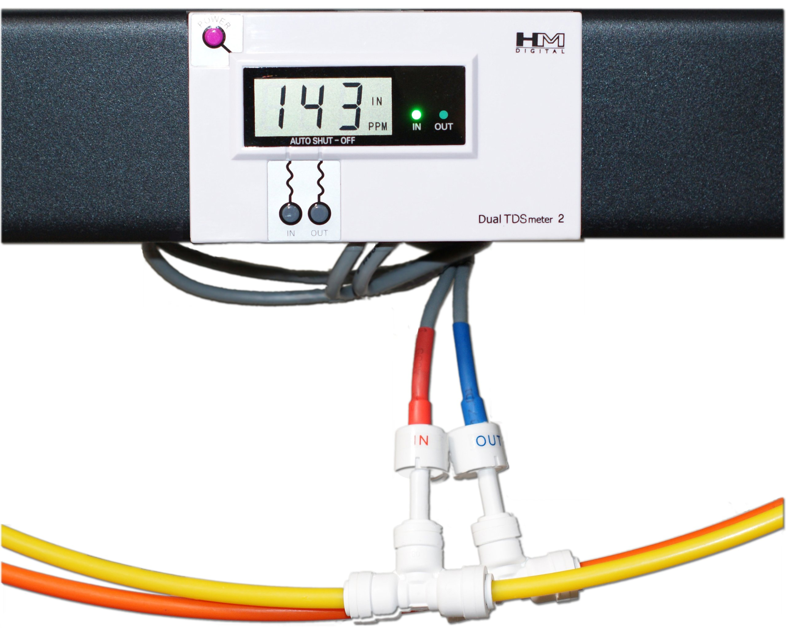 HM Digital DM-2 Commercial In-Line Dual TDS Monitor, 0-9990 ppm Range, +/- 2% Readout Accuracy by HM Digital