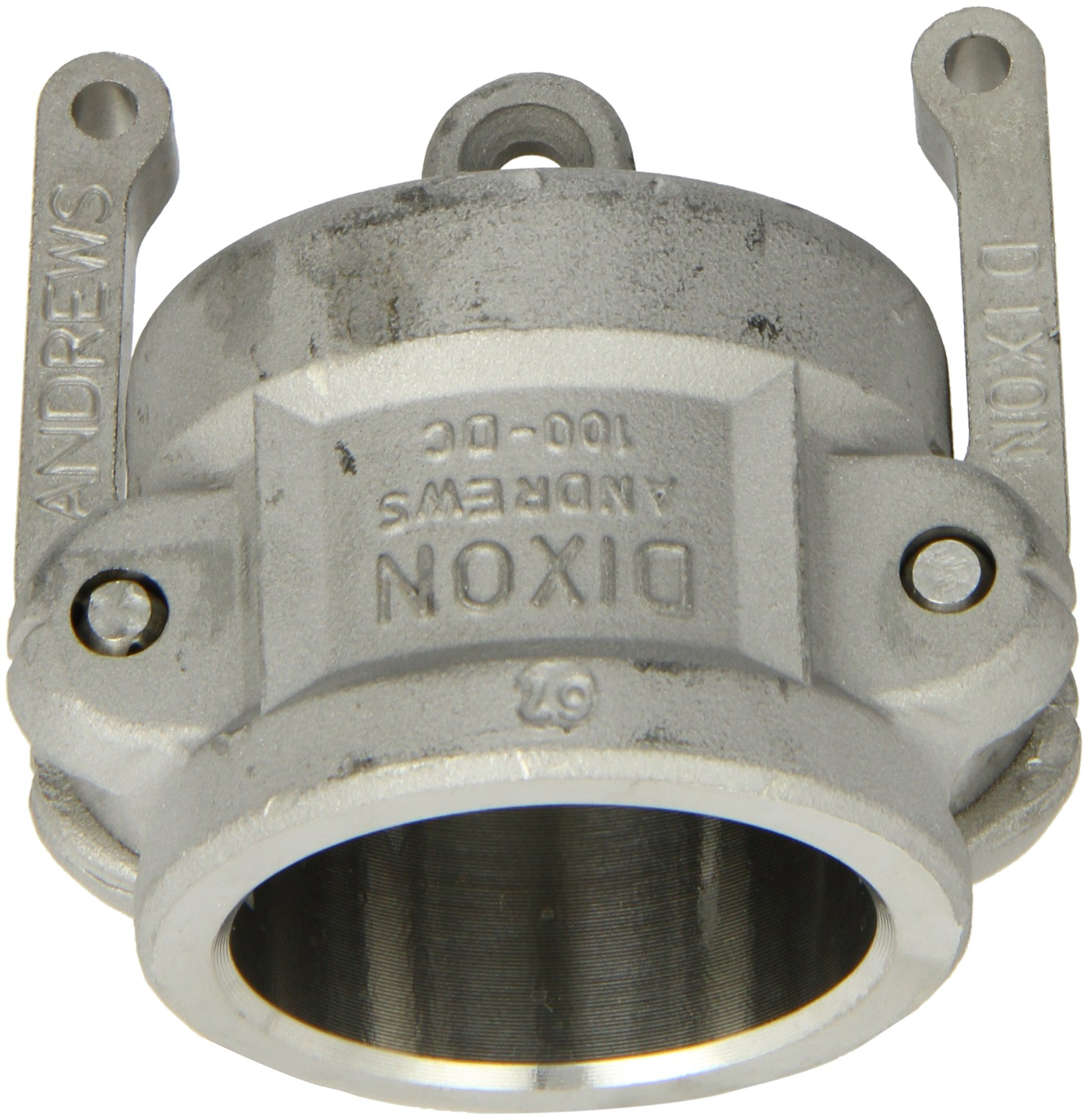 Dixon 100-DC-SS Stainless Steel 316 Type DC Cam and Groove Hose Fitting, Dust Cap, 1''