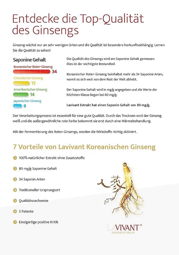Extracto de ginseng rojo coreano, 80 mg/g, 30 días