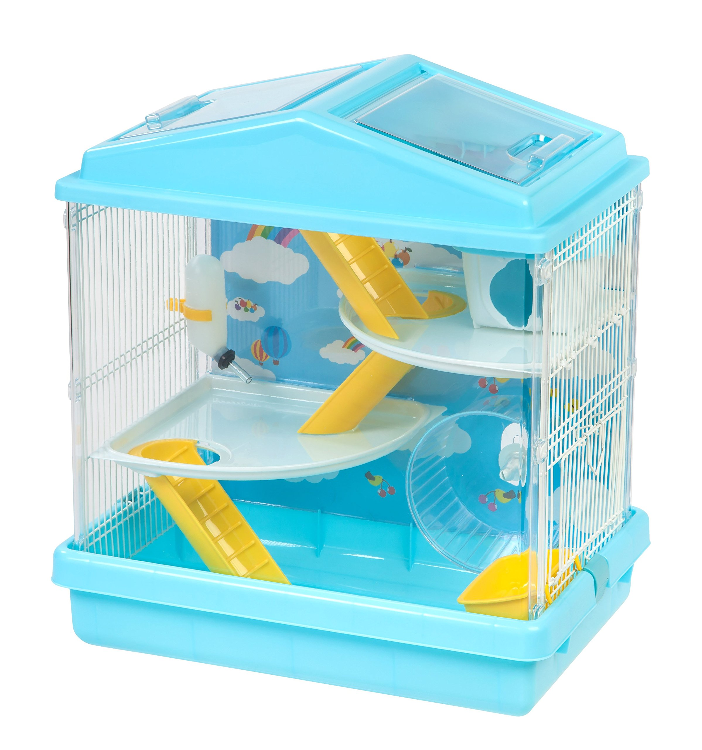 IRIS USA Hamster and Gerbil Pet Cage, 3-Tier, Blue