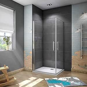 Mamparas de Ducha Doble Puerta Abatible 180°6mm Antical 85x70x195cm: Amazon.es: Bricolaje y herramientas