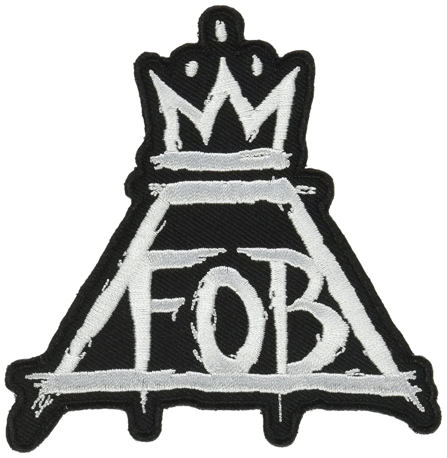 Fall Out Boy Crown Officially Licensed Artwork Iron-On//Sew-On Embroidered PATCH