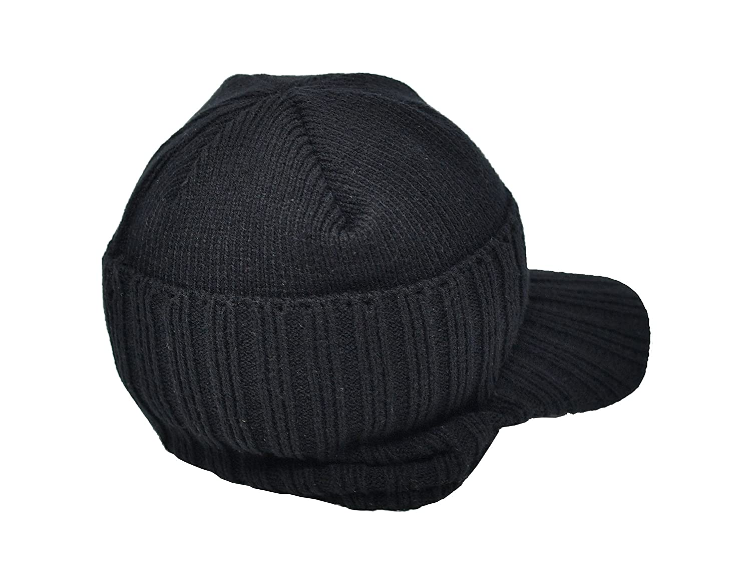7186b7519c008 Warm Winter Hat, Beanie Style with Peak. Unisex for Men or Women Heat Max  3.5 TOG Thermal Insulated Hat (Black) - by Home-X at Amazon Women's  Clothing store ...