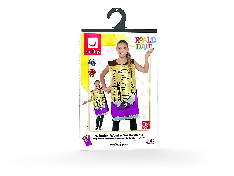 Amazoncom Roald Dahl Winning Wonka Bar Costume Clothing