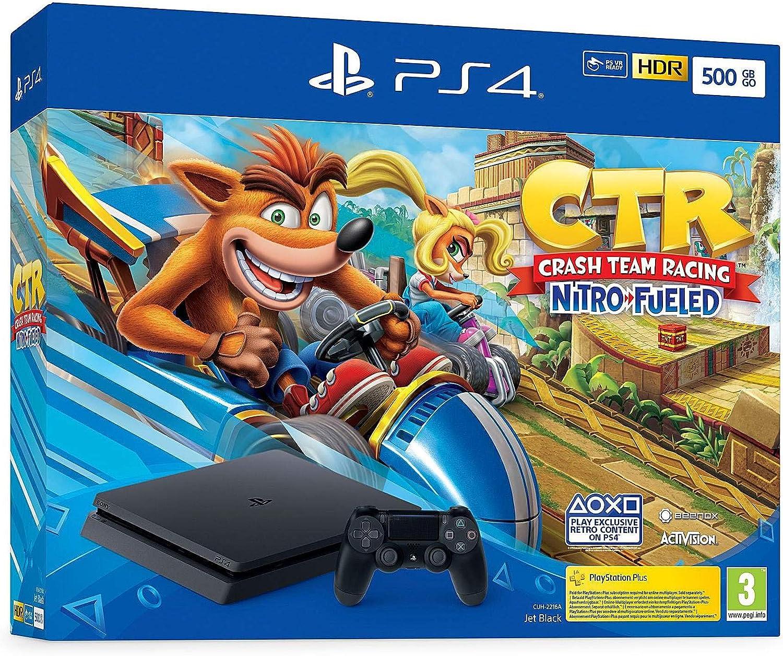Consola Ps4 Slim 500GB + Crash Team Racing Nitro Fueled: Amazon.es ...