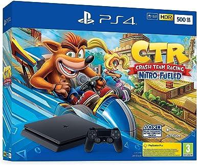 Consola Ps4 Slim 500GB + Crash Team Racing Nitro Fueled: Amazon.es: Videojuegos