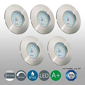 LED Badeinbaustrahler Dimmbar Ultra Flach Inkl. 5 x 5,5W LED Modul ...