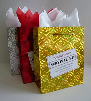 70th Birthday Survival Kit For Female Fun Gift Idea Novelty Present