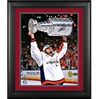 """$299 » Alex Ovechkin Washington Capitals 2018 Stanley Cup Champions Framed Autographed 16"""" x 20"""" Raising Cup Photograph - Suede Mat Upgrade…"""