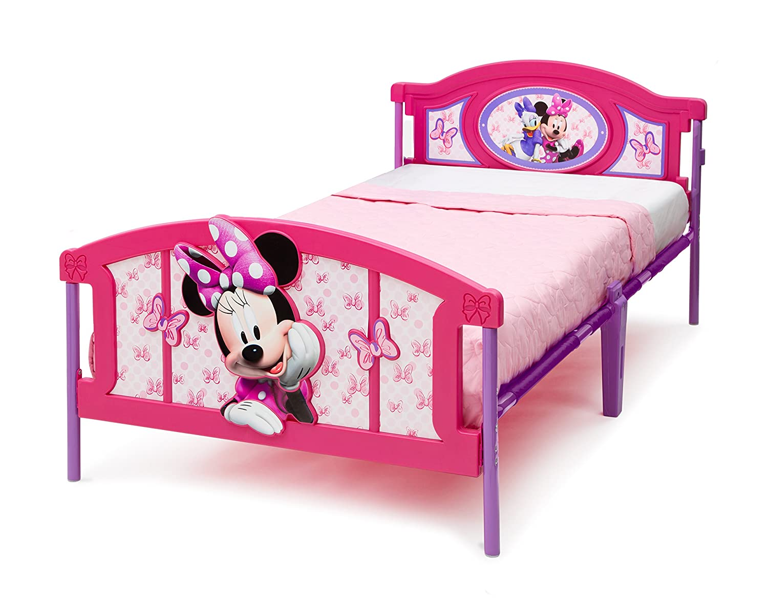 Delta Children Plastic 3D-Footboard Twin Bed, Disney/Pixar Cars BB86690CR