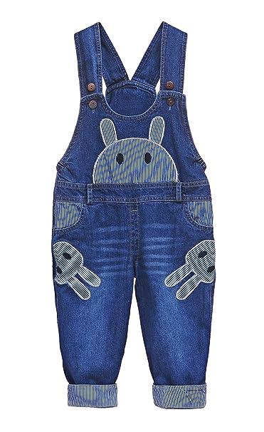 f1679ffdc DEBAIJIA - Pantalón de peto - Mono - para bebé niño conejo  HerstellerTalla100 cm  Amazon.es  Ropa y accesorios