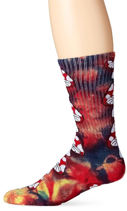 HUF Crew Sock – Calcetines Tie Dye Magic Rainbow, color Multicolor, talla one size