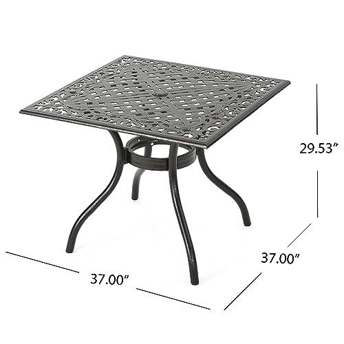 Christopher Knight Home Monteria Bronze Cast Aluminum Square Table