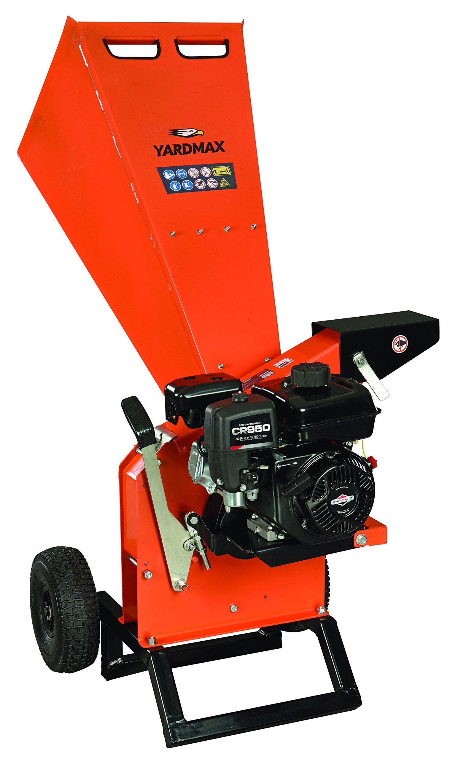 YARDMAX YW7565 Chipper Shredder, 3'' Diameter, Briggs & Stratton, CR950, 6.5HP, 208cc