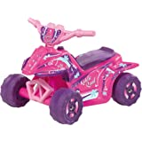Kiddie Quad 6-Volt Battery-Powered Ride-On Toy for Girls in Pink with Charger