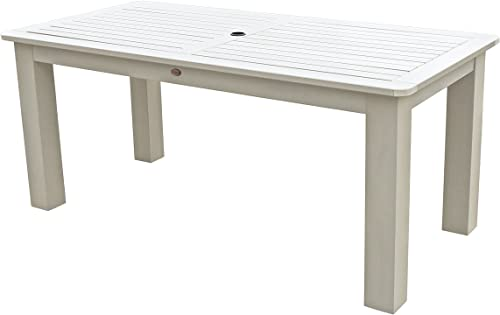 Highwood AD-DTB37-WAE Lehigh and Weatherly Rectangular Dining Table, 37 by 72-Inch, Height, Whitewash