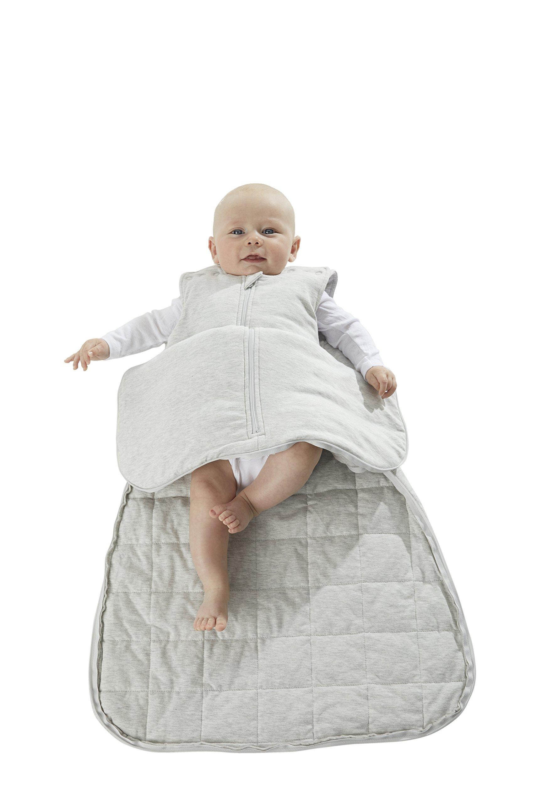 Gunapod Sleep Sack Luxury BambooViscose Boy Girl Wearable Blanket Baby Sleeping Bag 0-9 Months, Heather Grey by Gunamuna