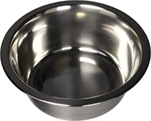 QT Dog Standard Stainless Steel Food Bowl, 1 Quart