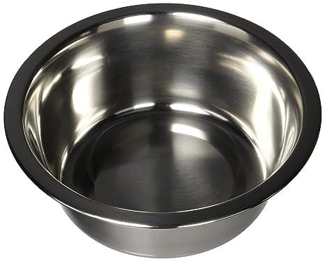 Amazon.com: QT perro estándar Bol de comida de acero ...