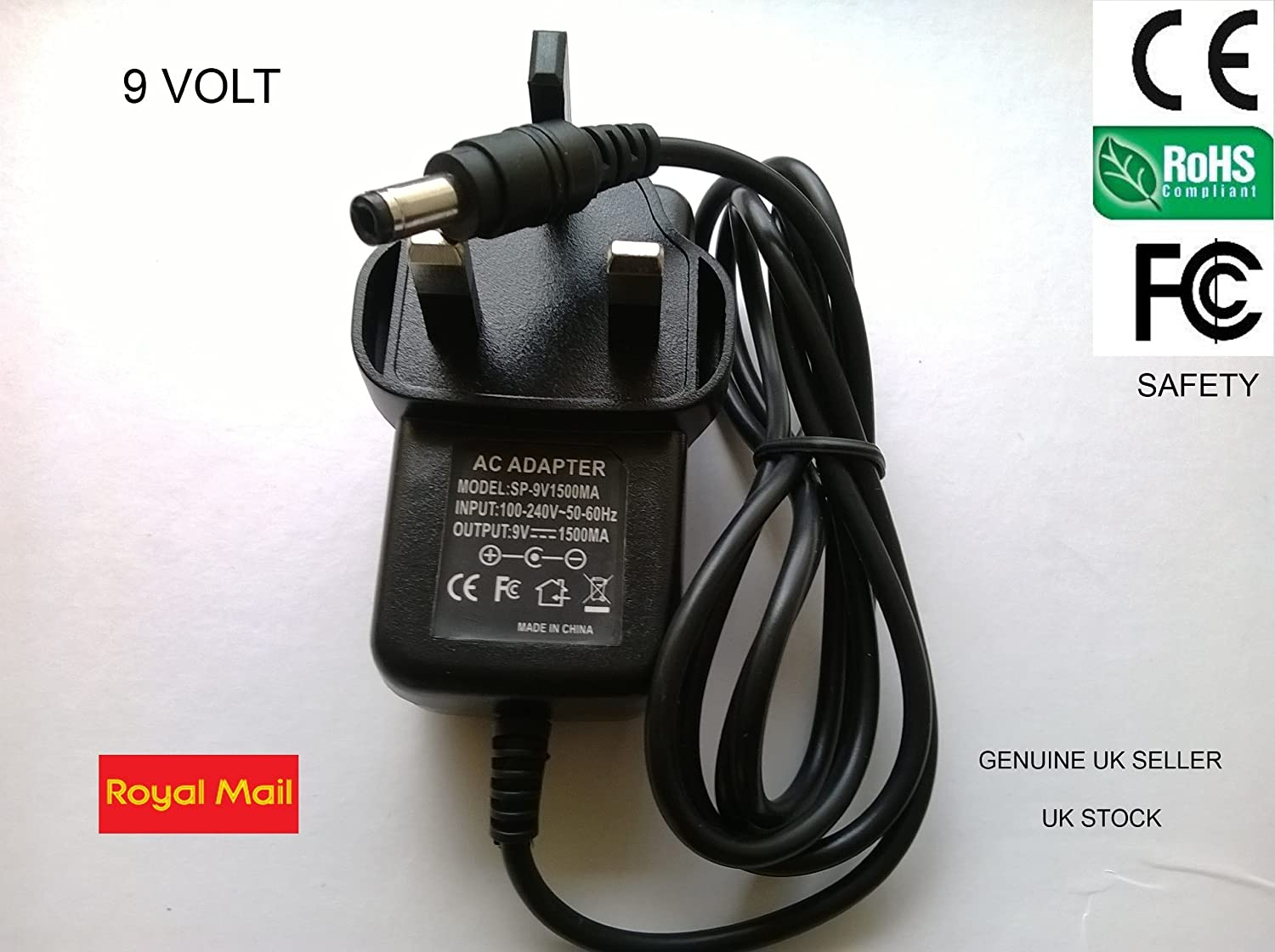 Power Supply Replacement for Boss Dr-550 Mkii Adapter Uk 9V