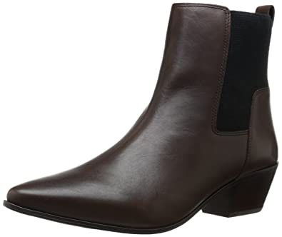 Nine West Women's Travers Leather Boot, Brown/Black, ...