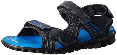a070df5999776 Image Unavailable. Image not available for. Colour  Reebok Men s Reeflex  Gravel and Blue Sandals ...