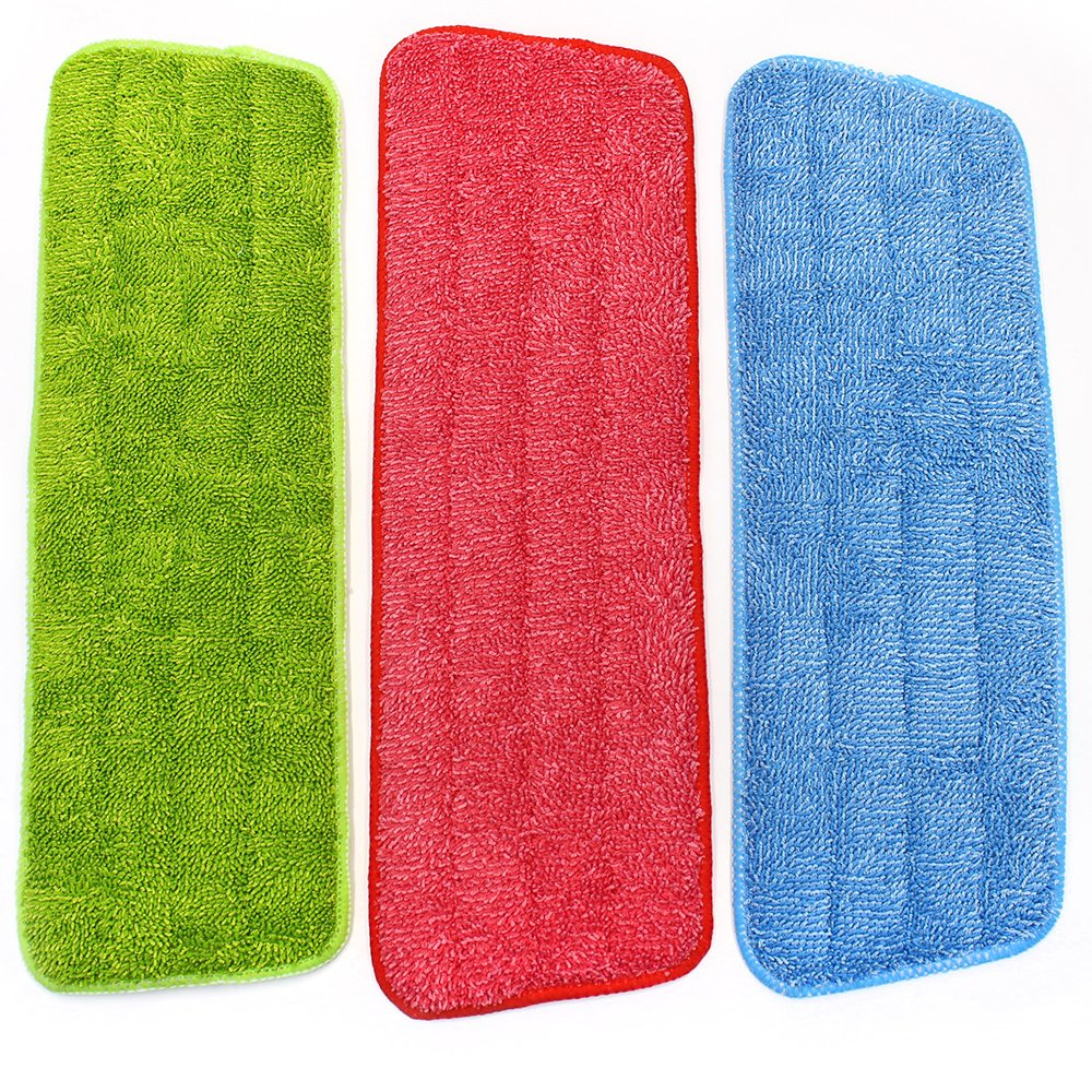 M-Aimee Mop Microfiber Cleaning Pads for Spray Mops and Reveal Mops Washable 16.5 x 5.5 Inch, 3 Pieces Refill Sponges-3