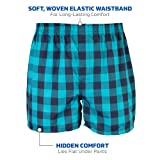 Gildan Men's Woven Boxer Underwear Multipack, Mixed Purple, Large