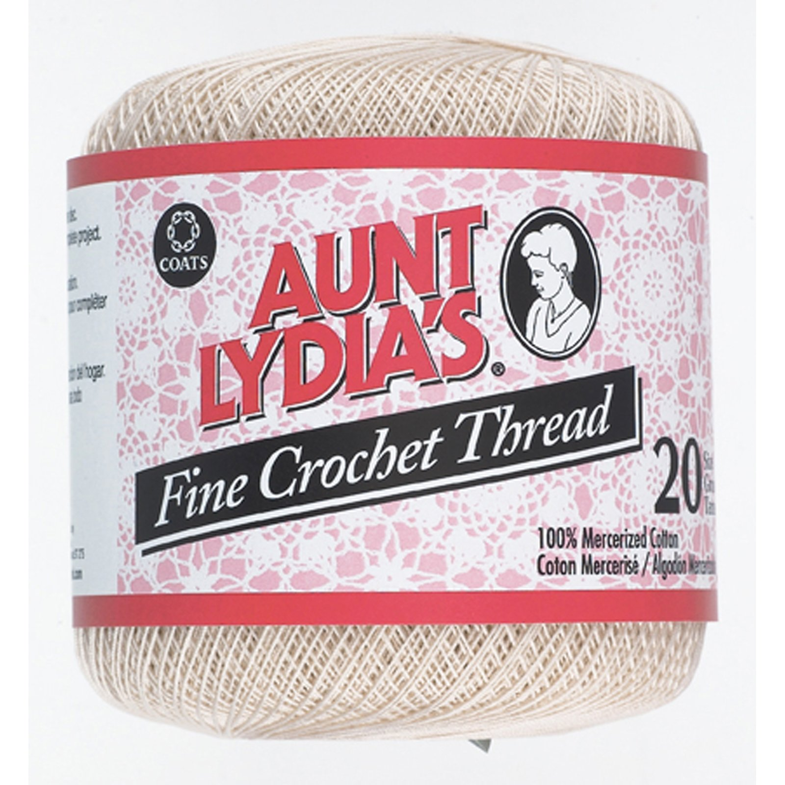 Aunt Lydia'S Fine Crochet Thread, Natural, 400 Yds - 3 Pkgs by Aunt Lydia's (Image #1)
