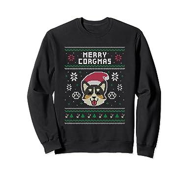 unisex official corgi ugly christmas sweater 2xl black