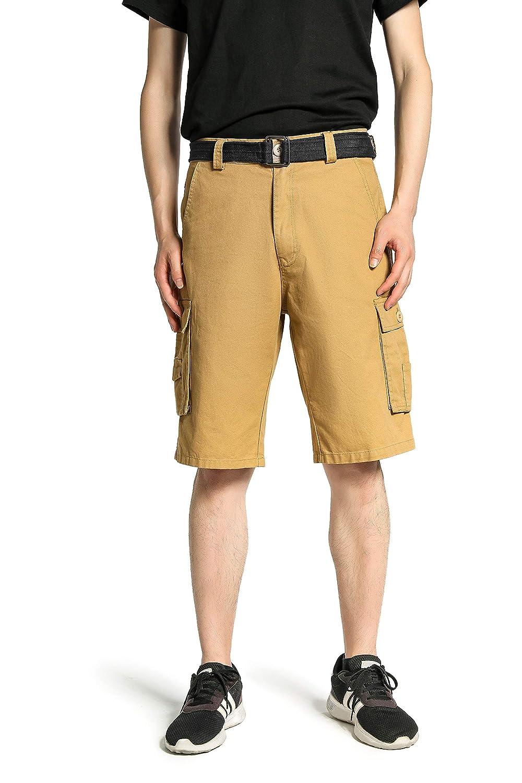 TALLA UK 32 (ES 42). Wantdo Pantalones Cortos de Cargo Bermuda para Hombres
