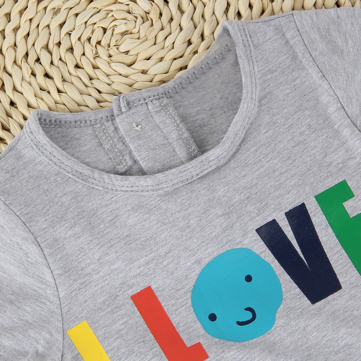 Puseky Baby Kids I Love My Mummy//Daddy Short Sleeve Romper Jumpsuit Bodysuit 0-6 Months, Navy Blue