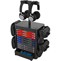 EJGAME Multifunctional Game Disk Storage Tower Holder for PS5,Game Disk Rack and Controller/Headset Stand Holder…