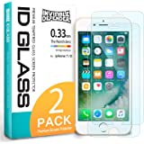 iPhone 8 Tempered Glass Screen Protector - Invisible Defender Glass [2-Pack / Case Compatible] Ultimate Clear Shield, High Definition (HD) Quality, 9H Hardness Technology Film for Apple iPhone 8