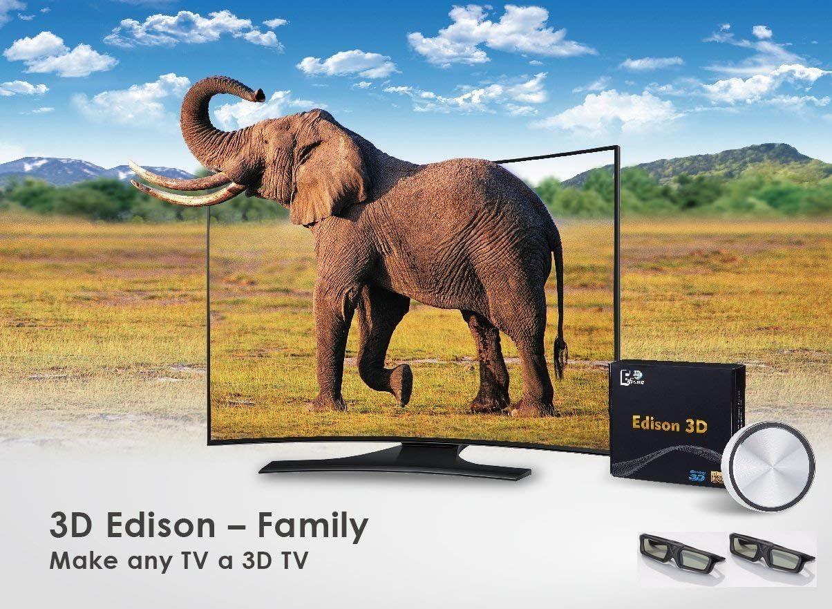 3D Edison Familia – Hacer Cualquier TV a 3D TV (2 x Gafas 3D con Obturador): Amazon.es: Electrónica