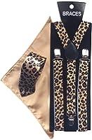 Sock Snob - Bretelles - Imprimé animal - Homme Blanc Marron Taille unique