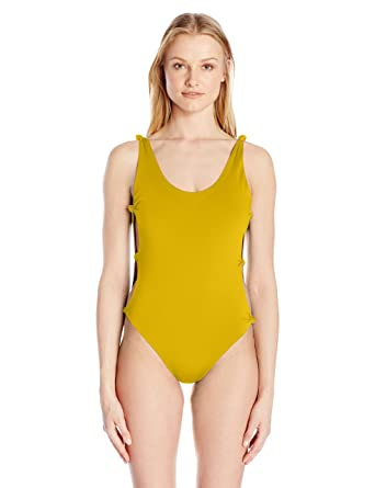 f3e6c239a6025 Red Carter Women s Indian Summer Reversible Solid Open-Side One Piece  Swimsuit