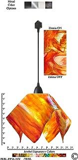 product image for Jezebel Signature Flame Track Lighting Pendant Large. Hardware: Black. Glass: Zinnia