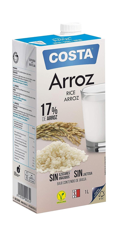 COSTA Bebida de Arroz Convencional - Paquete de 6 x 1000ml - Total 6000ml: Amazon.es: Alimentación y bebidas