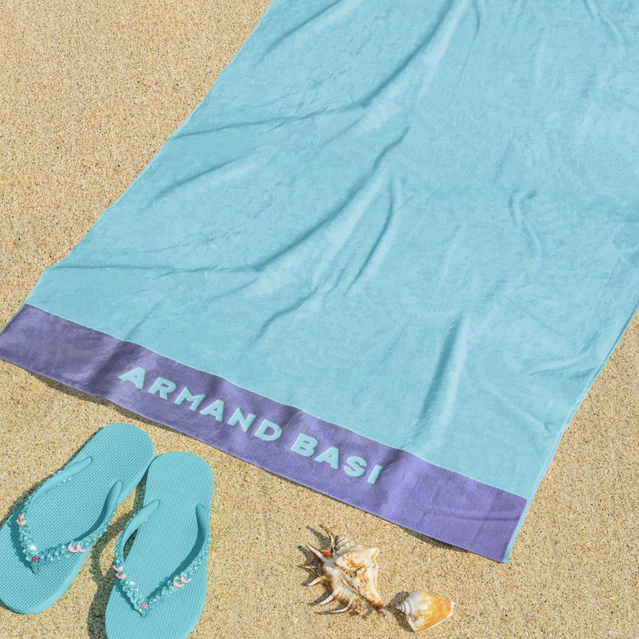 Burrito Blanco Armand Basi Toalla de Playa/Toalla de Piscina 62 Grande Lisa Algodón 100% con Tacto de Terciopelo Rectangular de 100x180 cm, ...