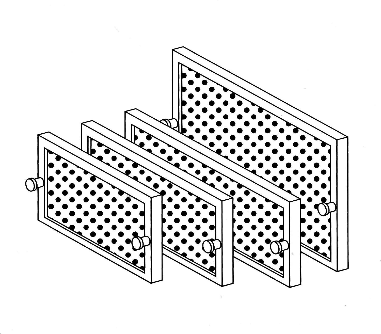 Gutmann TZ 401 RE 500 - Filtro de grasa metálico