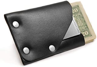 product image for American Bench Craft Men's Frontier 1 Slim Front Pocket Riveted Leather Wallet